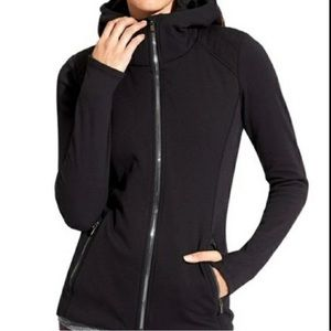 ATHLETA Strong Hoodie Jacket zip up black size S